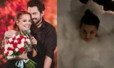 Fernando e Maiara se 'perdem' em banheira cheia de espuma: 'invadiu'