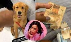 MC Rebecca exibe dinheiro comido por sua cachorrinha: 'muito arteira'