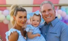 Ana Paula Siebert e Roberto Justus celebram festa de 1 ano da filha Vicky