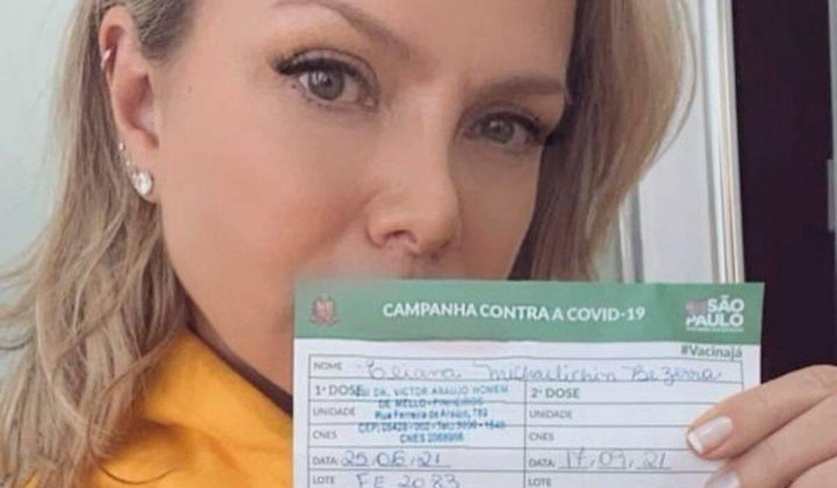 Eliana é vacinada contra a covid: 'misto de emoções, chorei por estar viva'