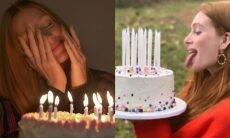 Marina Ruy Barbosa celebra aniversário de 26 anos com bolo e velinhas