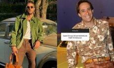 Chay Suede diz se inspirar em Agostinho Carrara para look: 'gostei'