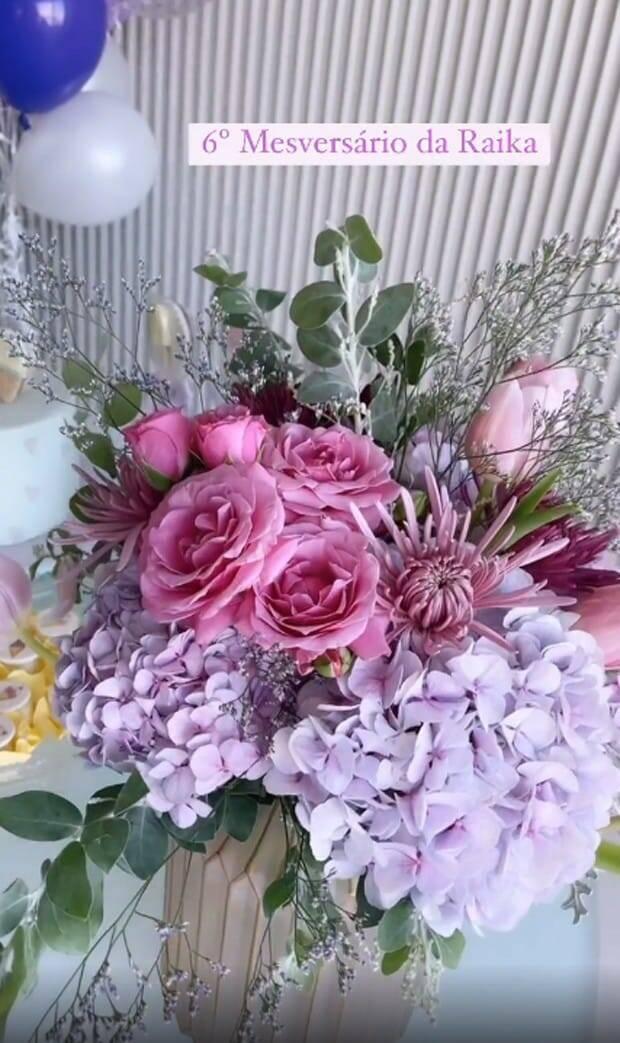 Romana Novais exibe detalhes da decoração do mêsversário de Raika (Foto: Reprodução/Instagram)