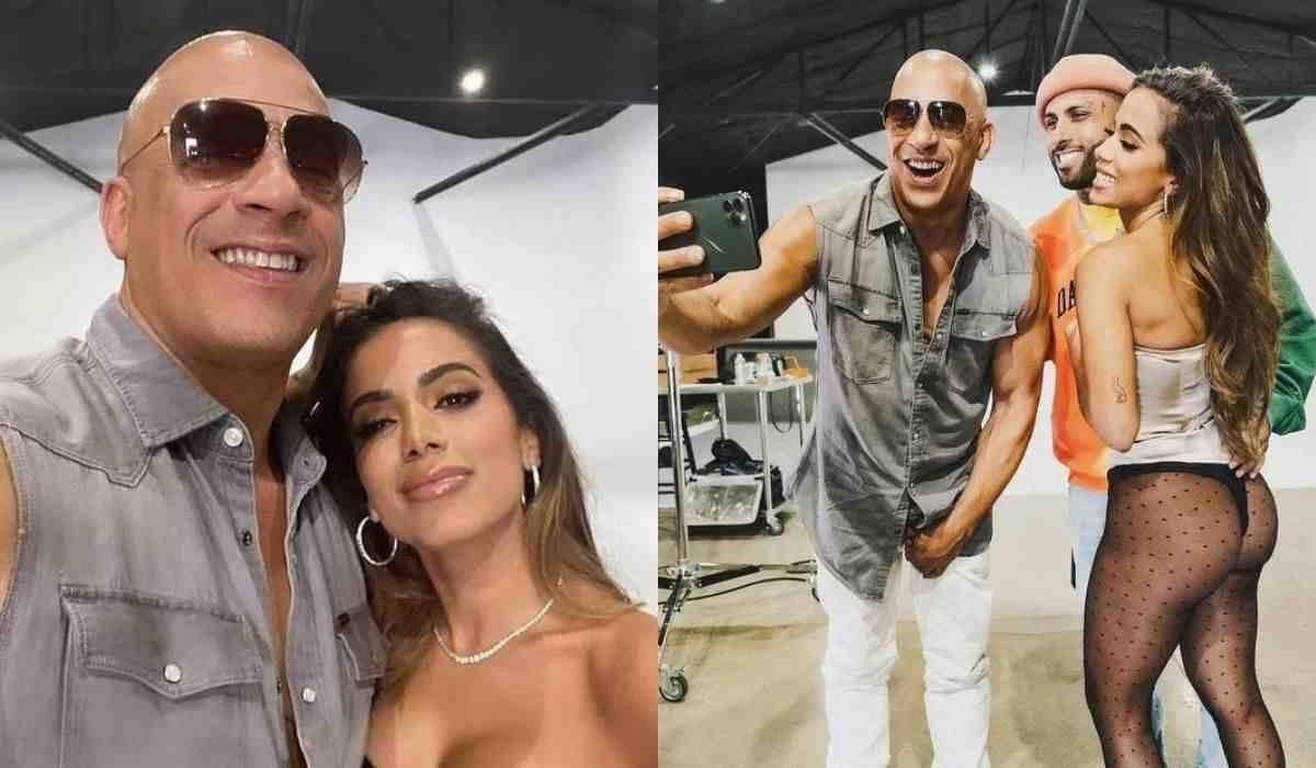 Anitta posa com Vin Diesel e confirma que terá hit em 'Velozes e Furiosos'