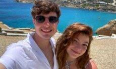 Filho de Gugu curte viagem romântica com a namorada pela Grécia