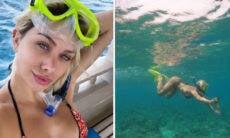 "Flávia Pavanelli curte mergulho nas Maldivas: ""Venci o medo"""