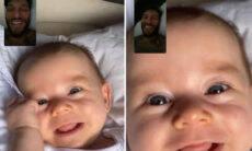Lucas Lucco mostra chamada de vídeo com o filho e aquece o coração dos seguidores