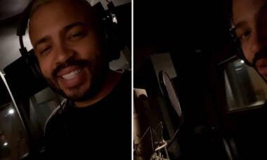 Projota aparece no estúdio de gravação e revela novo projeto