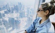 Sasha Meneghel e o marido visitam restaurante de luxo em Dubai