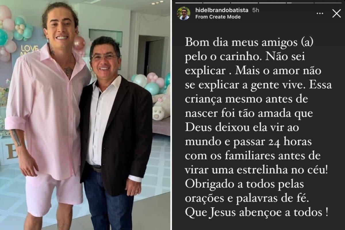 """Pai de Whindersson fala sobre João Miguel: """"Antes de nascer foi tão amado"""""""