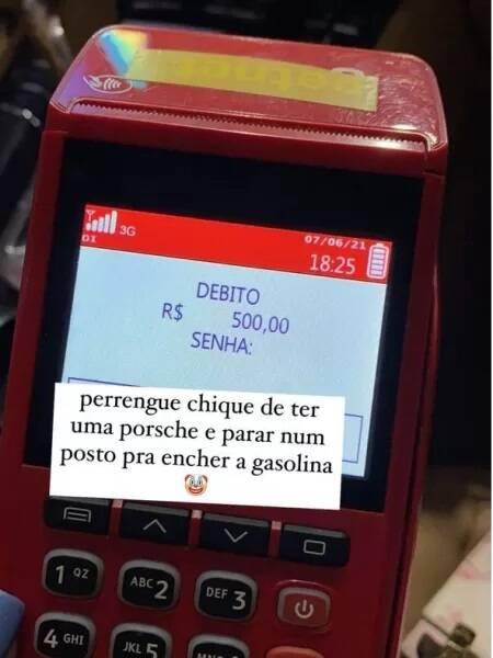 Viih Tube gasta R$ 500 para abastecer sua Porsche: 'perrengue chique' (Foto: Reprodução/Instagram)