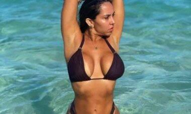 Mulher Melão ostenta corpão em passeio de barco. Foto: Reprodução Instagram