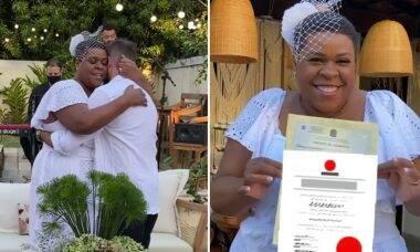 Após 9 anos de união, Cacau Protássio celebra casamento no civil