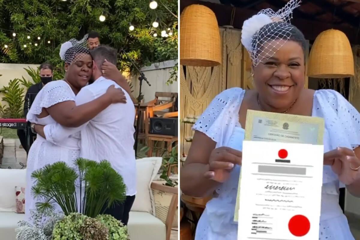 Após 9 anos de união, Cacau Protásio celebra casamento no civil