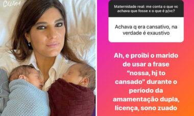 """Andreia Sadi conta como é ser mãe de primeira viagem: """"Tem manual, não"""""""