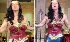 Lucas Lima diverte a web ao surgir vestido de 'Mulher-Maravilha' em vídeo