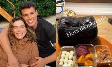 Mari Goldfarb faz marmita com 12 ovos à Cauã Reymond: 'amo cuidar do marido'