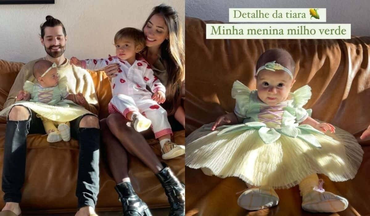 Romana e Alok celebram mêsversário de Raika com tema de festa junina
