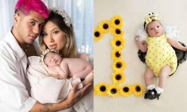 Zé Felipe e Virginia Fonseca celebram 1 mês da filha: 'amor e alegria'