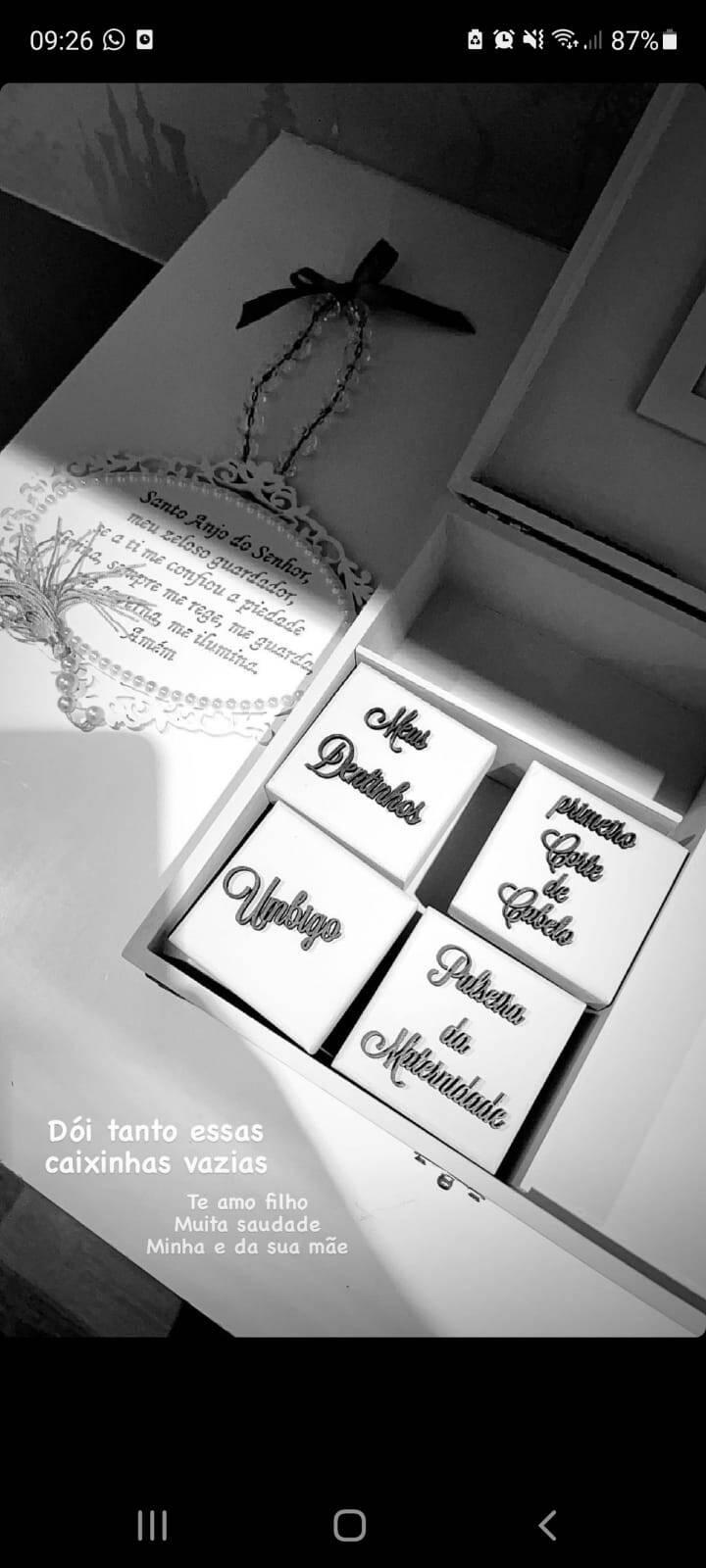 Whindersson Nunes exibe 'caixinha de lembranças' do filho vazia: 'dói' (Foto: Reprodução/Instagram)