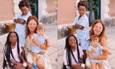 Mãe de Giovanna Ewbank posa com Titi, Bless e Zyan e se declara
