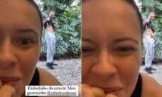 Mari Bridi mostra Rafael Cardoso exibindo 'tanquinho': 'meu gostosinho'