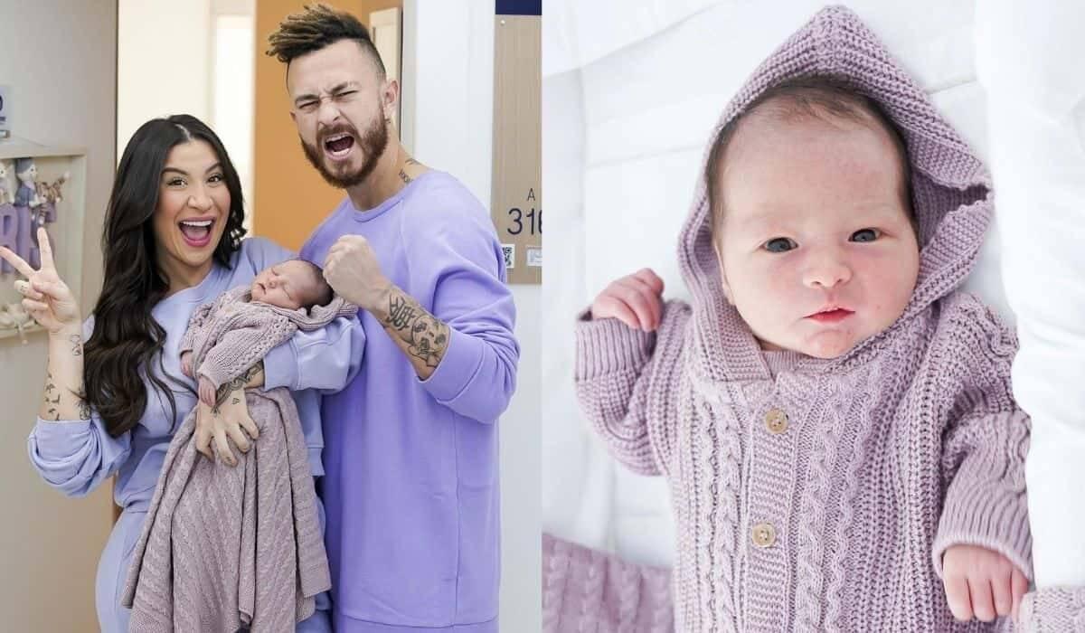 Bianca Andrade baba em clique do filho: 'olhinhos do papai'