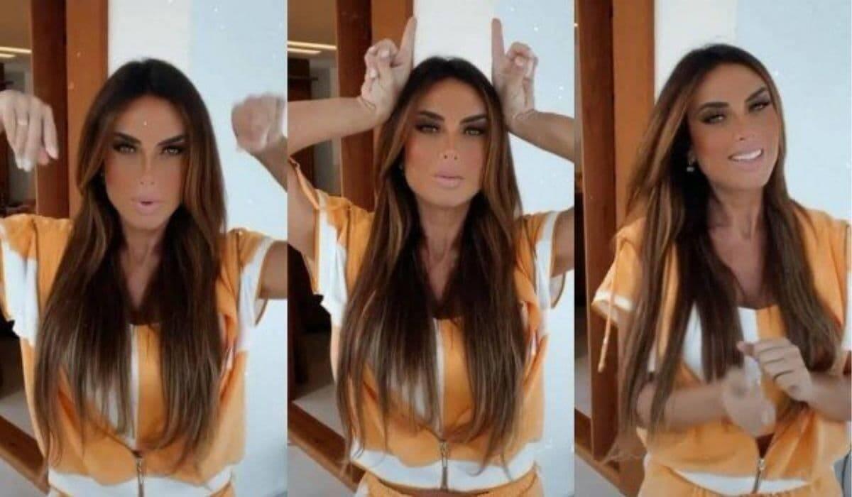 Após separação, Nicole Bahls posta vídeo dançando funk e ironiza traição