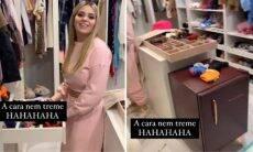 Viih Tube aparece em seu closet com frigobar de seu novo duplex de luxo