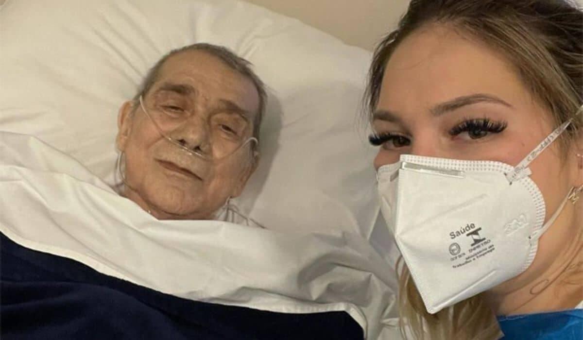 Virgínia se declara ao pai internado com pneumonia: 'você é forte'