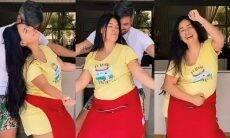 Simone Mendes encanta os fãs ao dançar 'pisadinha' com o marido''