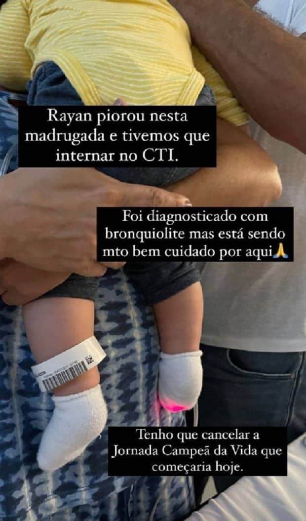 Bebê do ator Malvino Salvador e Kyra Gracie é internado em UTI (Foto: Reprodução/Instagram)