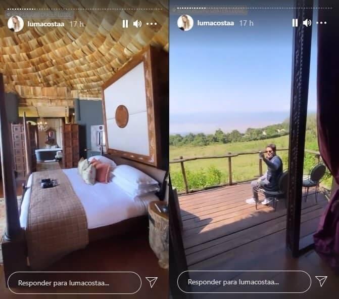 Luma Costa se hospeda em hotel na cratera de um vulcão na Tanzânia (Foto: Reprodução/Instagram)