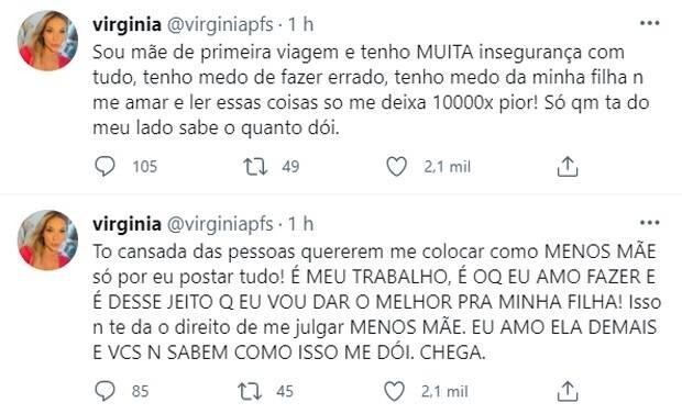 Virgínia Fonseca desabafa sobre críticas de não ser boa mãe: 'tô cansada' (Foto: Reprodução/Instagram)