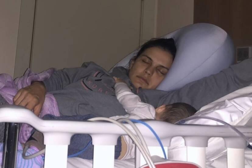 """Kyra Gracie celebra os 6 meses do filho caçula na CTI: """"Coração apertado"""""""