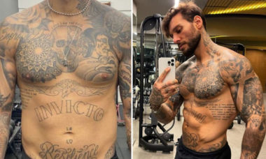 """Lucas Lucco mostra antes e depois de ganhar peso na pandemia: """"Meses sem treino"""""""