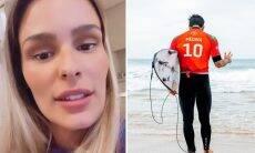 "Yasmin Brunet fala sobre Gabriel Medina fora da final: ""Absurdamente roubado"""