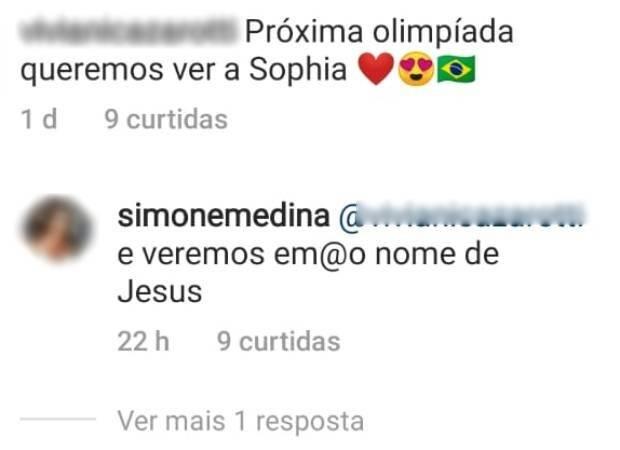 Mãe de Medina ignora filho e revela que quer ver a caçula nas Olímpiadas