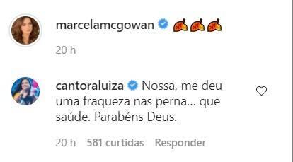 Marcela McGowan posa de maiô e namorada Luiza a elogia: 'que saúde' (Foto: Reprodução/Instagram)