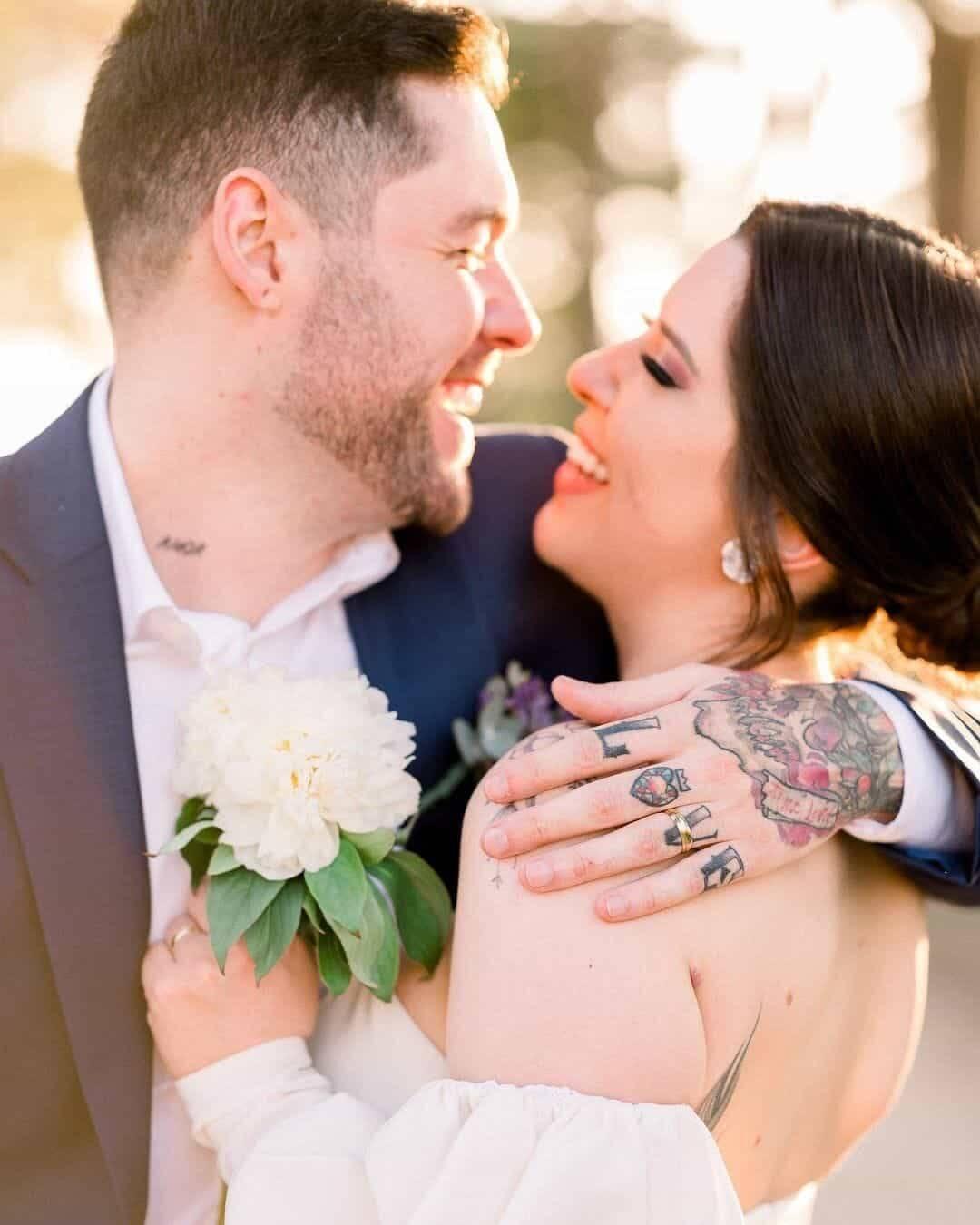 Andressa e Nasser, do BBB 13, se casam após oito anos de namoro (Foto: Reprodução/Instagram)