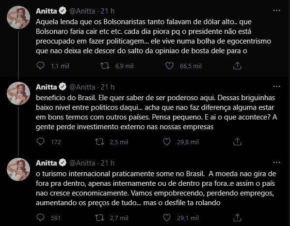 Treta! Urach insulta Anitta: 'vai rebolar a bunda que disso você entende' (Foto: Reprodução/Instagram)