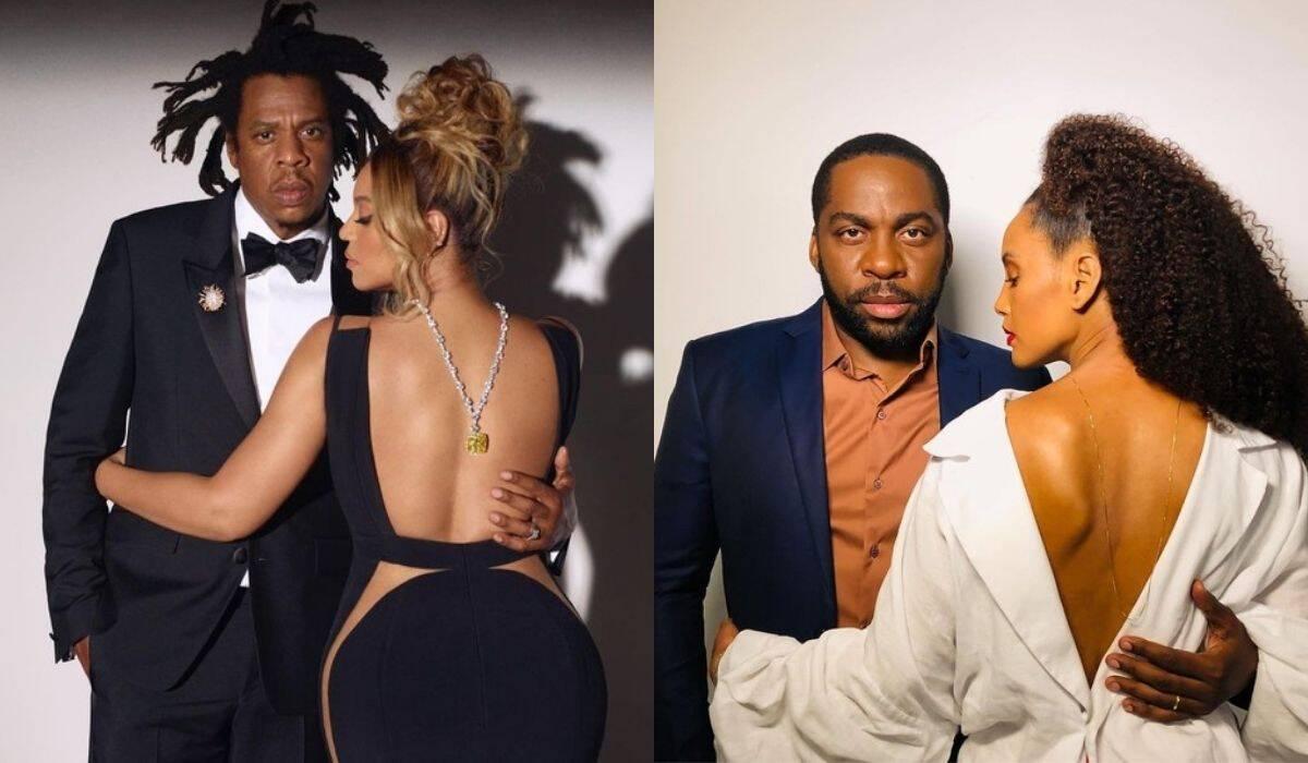 Lázaro Ramos e Taís Araújo se inspiram em clique de Beyoncé e Jay-Z