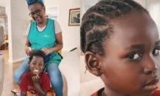 Giovanna Ewbank exibe novo visual do filho: 'se inspirou na irmã'