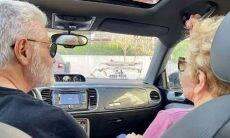 Recuperada da covid, Glória Menezes passeia de carro: 'amenizar a dor'