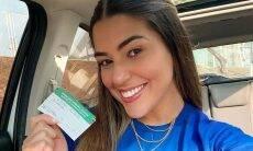 Grávida, Vivian Amorim toma vacina contra covid-19: 'esperança e fé'