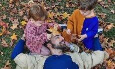 Thales Bretas posa com os filhos no 'Dia dos Pais': 'pedaços de mim'