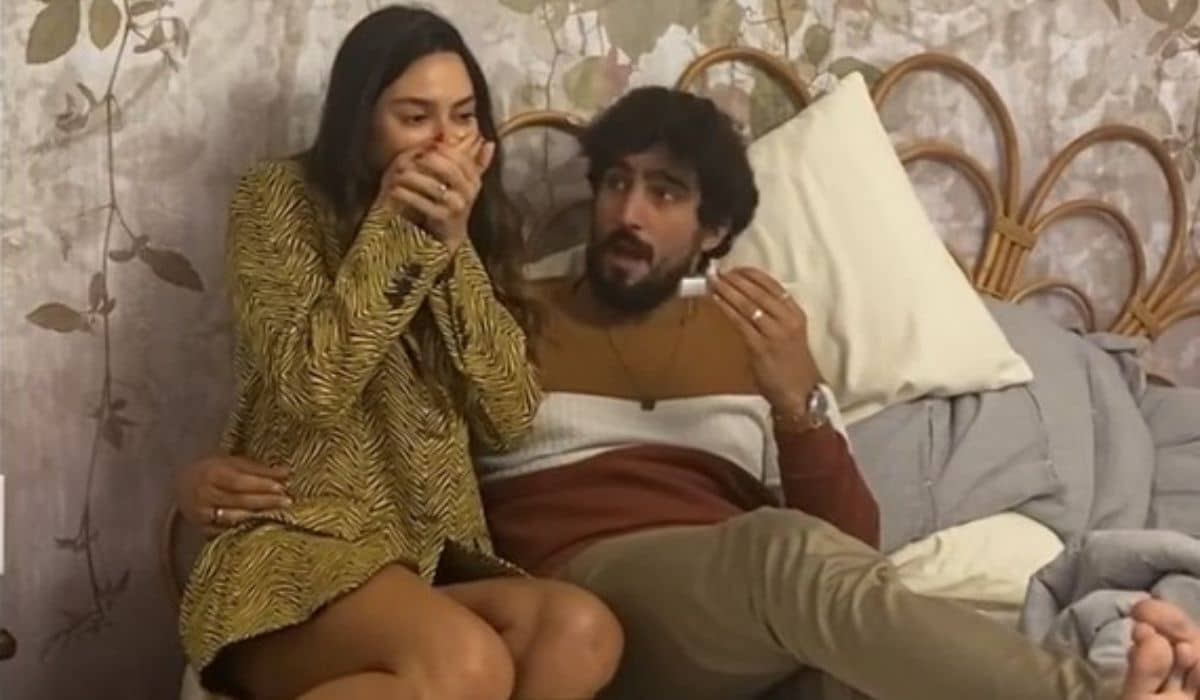 Thaila Ayala exibe momento em que Renato Góes descobre sua gravidez