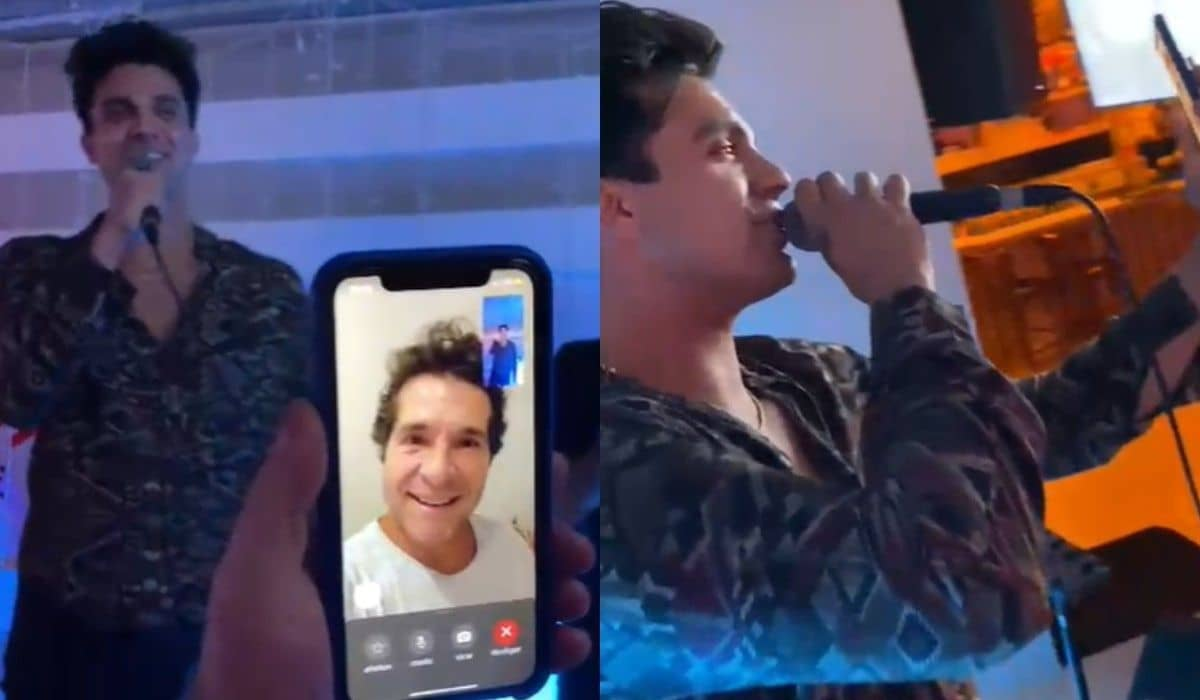 Luan Santana liga para Daniel ao cantar música do cantor em karaokê