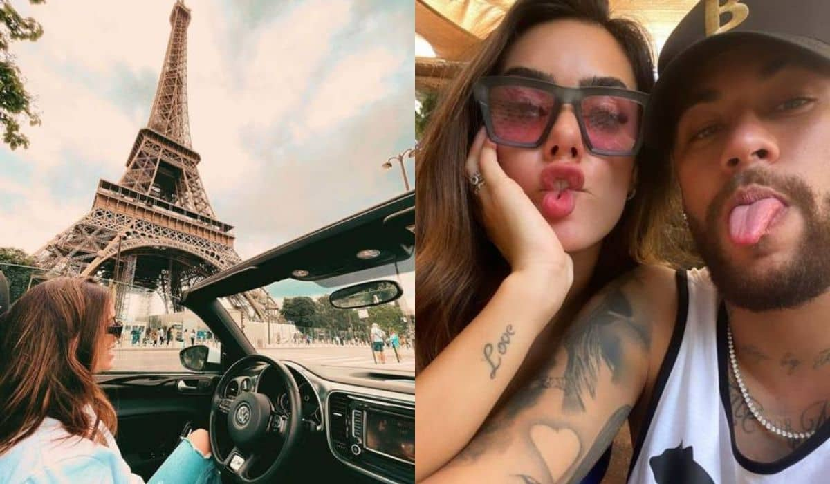 Affair de Neymar posa andando de carro conversível pelas ruas de Paris