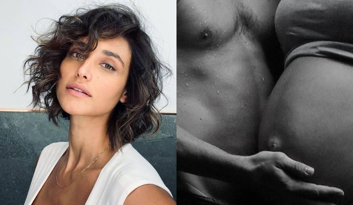 Com clique grávida, Débora Nascimento homenageia o ex: 'feliz dia'